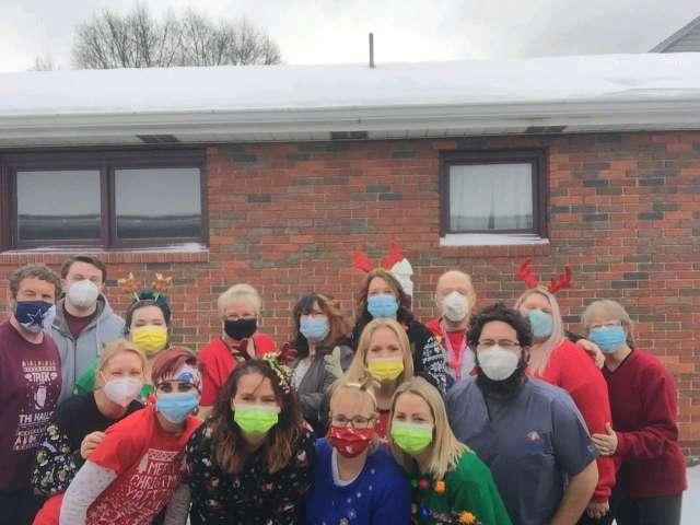 cornerstone team holiday photo